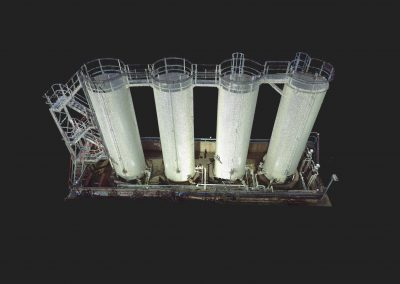 Point cloud of storage tanks