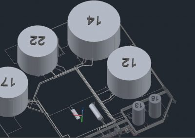 Auto desk Plant 3d Process Model PetroChemical Plant
