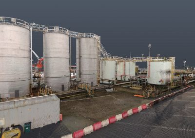 Laser scanning Data Tank Terminal Point cloud Oil & Gas