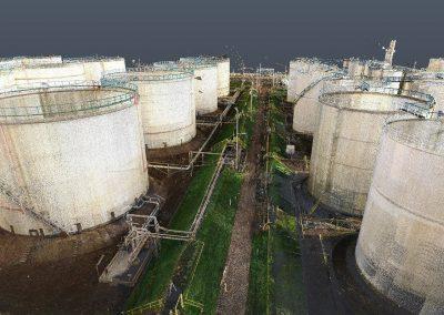 Laser scanning Data Tank Terminal Point cloud Oil & Gas