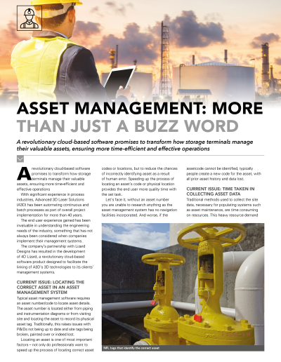Asset management: More than just a buzz word Article