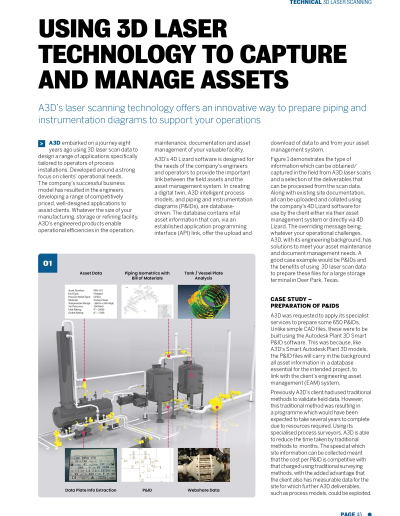 Using 3D Laser Technology to capture and manage assets