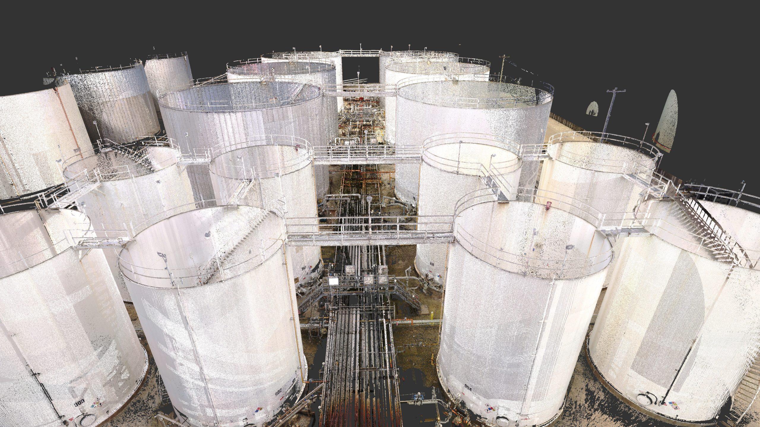 Point Cloud data of Oil Storage Bund